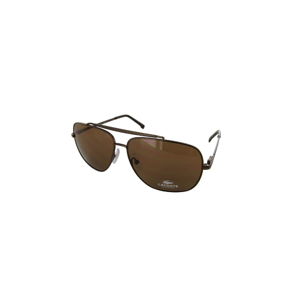 74355de57b0 Lacoste Sunglasses L132S 210 Satin Brown 60 12 140 on PopScreen