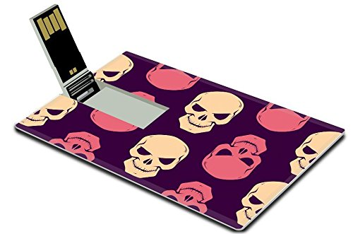 Luxlady 32GB USB Flash Drive 2.0 Memory Stick Credit Card Size IMAGE ID: 32098520 Halloween seamless pattern with boiler monster pumpkins and other symbols of the holiday (Flash Boiler compare prices)