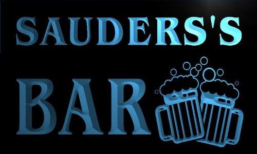 w060843-b-sauders-name-home-bar-pub-beer-mugs-cheers-neon-light-sign