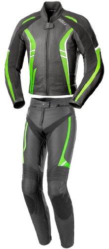 Büse Jerez Damen Lederkombi 2tlg., Farbe schwarz-grün, Größe D38