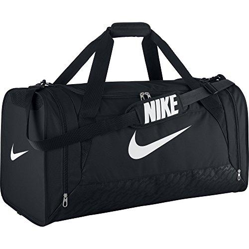 Nike Silia 6 Duffel Large Borsone - Nero (Nero/Nero/Bianco) - Taglia Unica