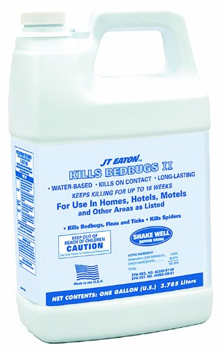 JT Eaton 207-W1GP Water Based Kills Bedbug II Spray with Sprayer Attachment, 4 Gallon Container (4 Gal Water Container compare prices)