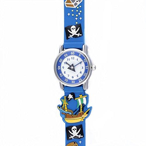 viki-lynn-montres-enfants-garcon-pirate-3d-quartz-analogique-rond-cadran-colore-bracelet-caoutchouc-