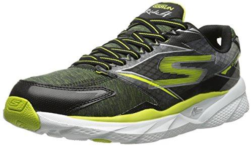 Skechers Performance Men's Go Run Ride 4 Running Shoe, Black/Lime, 8 M US