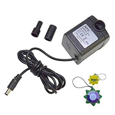 HQRP 12V DC 7W 350L/h 93GPH Submersible Water Pump for Aquarium / Fountains / Pond / Statuary / Tanks / Spout and Hydroponic Systems plus HQRP UV Meter