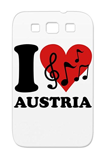 I Love Austrian Music Red Shock Absorption Melody Key Beat Music Musician Sound Pop Groove Guitar Austria Rock Note Compose Claf Bass Dance Concert House Miscellaneous Piano For Sumsang Galaxy S3 Protective Hard Case
