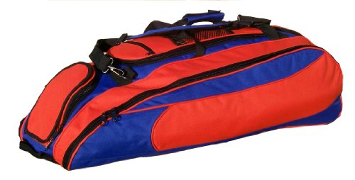 ... Royal Blue  Orange Cobra Softball Baseball Bat Equipment Roller Bag