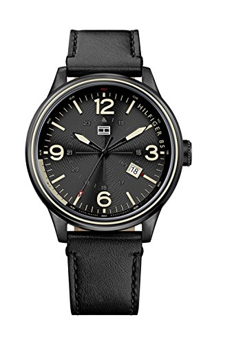 tommy-hilfiger-peter-mens-quartz-watch-with-black-dial-analogue-display-and-black-leather-strap-1791