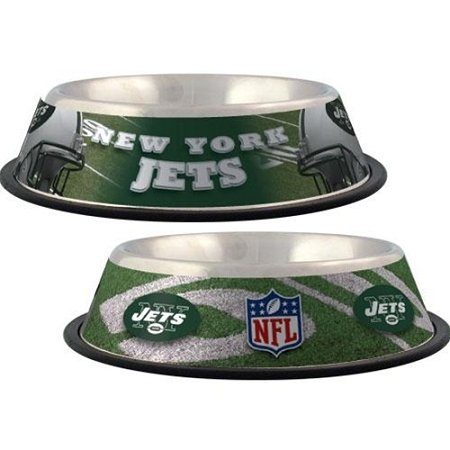 New York Jets Stainless Dog Bowl new york jets stainless dog bowl