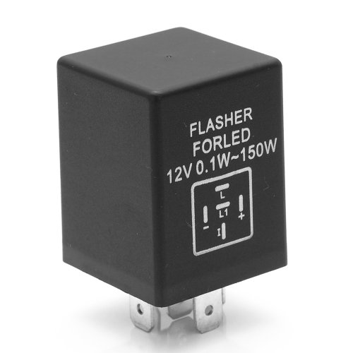 Ep27 Hyper Blinking Flash Decoder Load Equalizer Led Turn Signal Flasher Relay Ep-27 12V 0.1W - 150W For Chevrolet Dodge Ford Lincoln Mazda Jeep