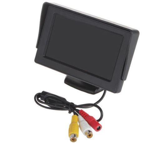Esky® ES-15 4.3 Inch Portable Color LCD TFT Car Rear View Backup Monitor Screen, Anti-Glare High Resolution, 180 Degree Adjustable Flip Stand 9 inch 800 480 car monitor roof mount lcd color monitor flip down screen overhead video player with remote control multimedia