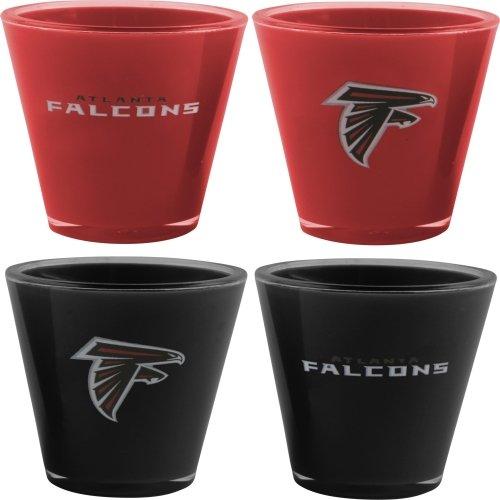 NFL Atlanta Falcons 4-Pack Acrylic Team Color Acrylic Shot Set