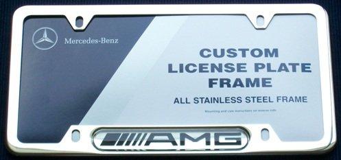 MercedesBenz Chrome Star Logo on Polished Steel License Plate