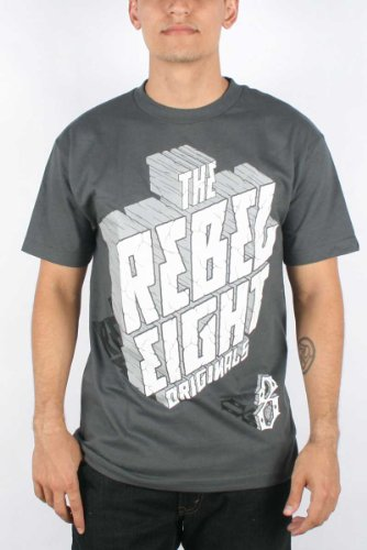 Rebel8 - High Noon Mens T-shirt in Charcoal, Size: Medium, Color: Charcoal