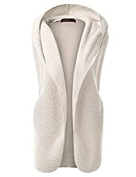 Doublju Women's Round Neck Active Faux Fur Vest