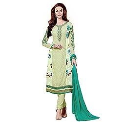 MD Textiles Women Georgette Dress material (Megha_9005_Green_Green_Free Size)