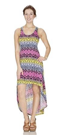 (74992) Classic Designs Summer Casual Dress in Stretch Jersey (Small-4X) in Aztec Coral Size: Small