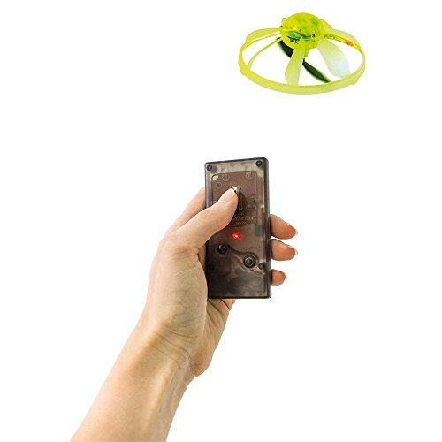 Toy Lab KIDS FLASHING MINI LED REMOTE UFO SAUCER RC CONTROL MINI LIGHT SPINNER FLYING GIFT TOYS NEW