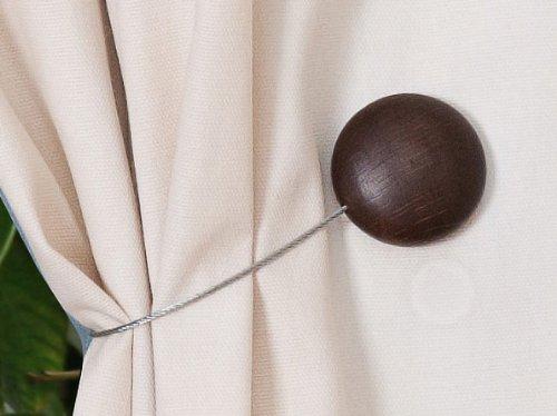 Curtain Clips, Tiebacks, or holdbacks | Set of 2 (Chocolate)