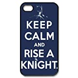 Personalized Batman Keep Calm and Raise A Knight Words High Quality Printing Hard Back Cover Case for Apple iPhone...