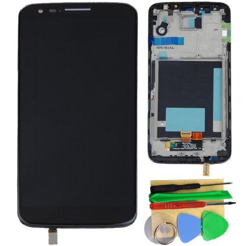 Black Lcd Touch Screen Digitizer Assembly + Frame For Lg Optimus G2 D800 D801
