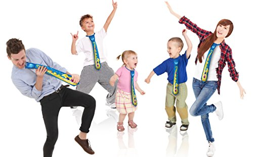 Ginzick Saxophone Fun Party Touch Play Neck Tie - Blue