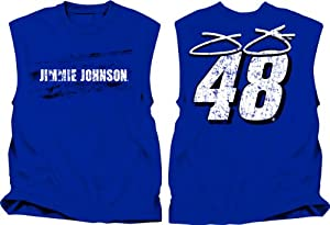 Buy Checkered Flag Sports NASCAR Jimmie Johnson # 48 Muscle Shirt - Blue by Checkered Flag