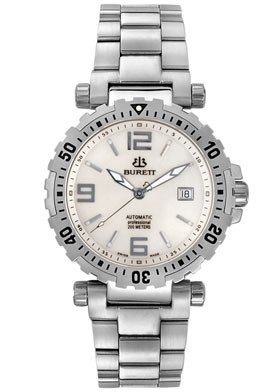 Burett Men's Neo Icon Swiss Automatic Diver Stainless Steel Watch