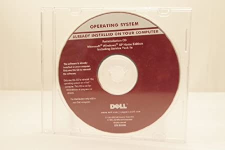 Dell Operating System Microsoft Windows XP Home Edition Includes Service Pack 1a Part Number: R2490 Year: 2003 Computer Software Program Install