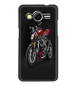 PRINTSWAG RED BIKE Designer Back Cover Case for SAMSUNG GALAXY CORE 2 G355H