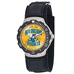NBA Men's BDV-NO Agent Series New Orleans Hornets Velcro Watch