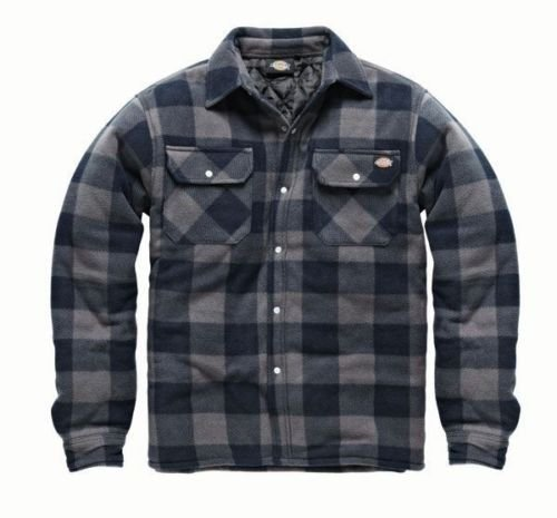 dickies-portland-shirt-high-quality-padded-work-shirt-jacket-polar-fleece-check-design-studded-front