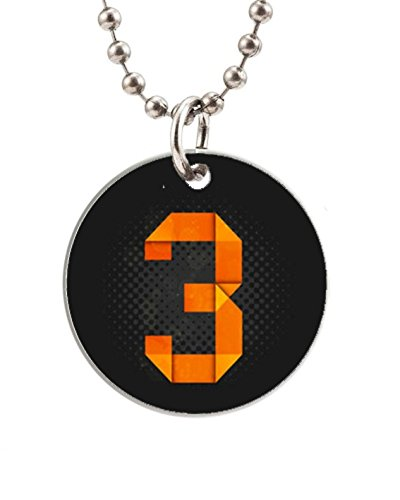 3 I Am Number Image Custom Fashion Design Round Dog Tag Pet Tags Animal Tag Necklace Pendant (One Side Image),Round Dog Tag Size About 1.7 Inches In Diameter By Smile Tag Gift
