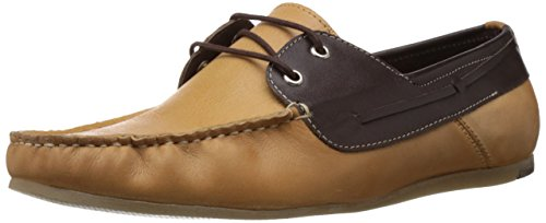Famozi Famozi Men's Leather Shoe Boat Shoes (Black)