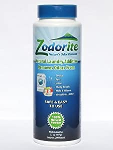 ZODORITE 100% Natural Odor Eliminating Laundry Additive Powder 32oz