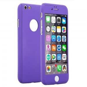 RockxyTM Protective Slim Fit 360 Hybrid Body Cover Case with Tempered Glass for Apple iPhone 5 / 5S (Purple)