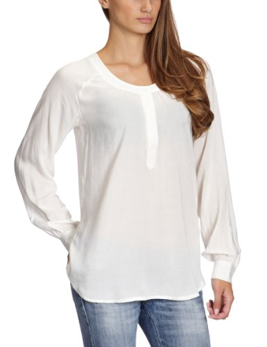 VILA CLOTHES Damen Bluse 14009860 GOTEBORG SHIRT, Gr. 38 (M), Weiß (OFF WHITE)