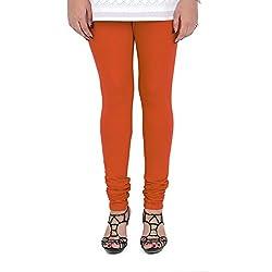 Vami Cotton Churidar Leggings in Flame Color _VM1001(38)