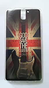 Mobiking One Plus One Retro UK Design Soft Back Case Cover For One plus One