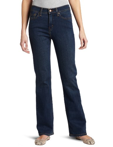 Levi's 512 Misses Perfectly Slimming Boot Cut Jean with Tummy Slimming Panel, Shadow Blue, 16 Short