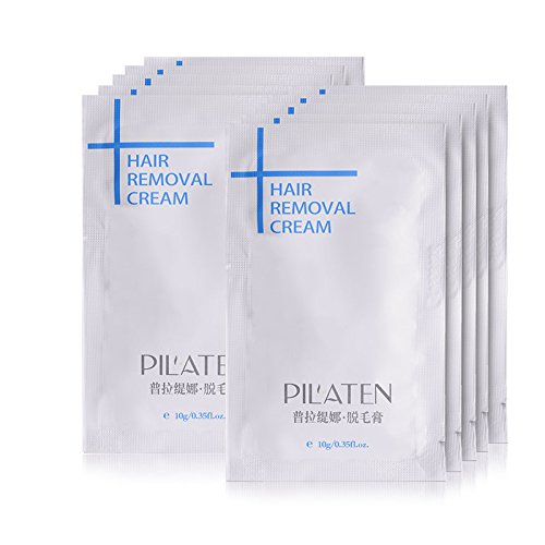 10 Pack PILATEN Hair Removal Cream, Mild Formula