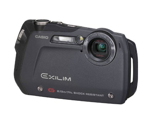 Casio EXILIM zoom EX-G1 Digital Camera, 12.1 MPix, 3 x, 6.4 cm (2.5 Inch), 848 x 480, Black