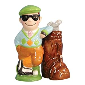 Golfer Golf Club Salt & Pepper Shaker Set