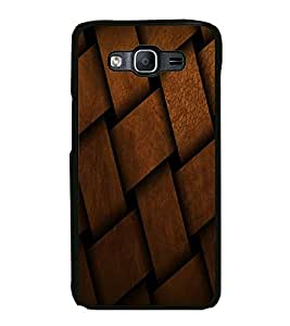 Fuson Premium 2D Back Case Cover Leather design mat With blue Background Degined For Samsung Galaxy On5::Samsung Galaxy On5 G550FY