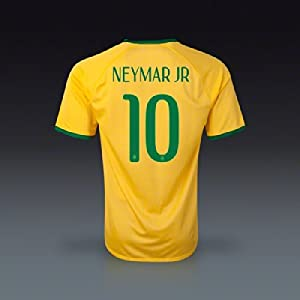 Buy #10 NEYMAR JR Brazil Home Kid Soccer Jersey & Matching Short Set - Size:YXXL (for 12-15 years of age) by BFA