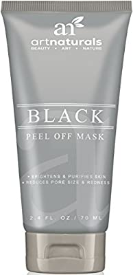 Art Naturals® Blackhead, Acne & Pimple Removal Peel Off Face Mask 2.4oz -Best Black Head Remover, Purifying Deep Cleanser & Black Mud Mask - Reduce / Minimize Pore Size & Redness - For Acne Prone Skin