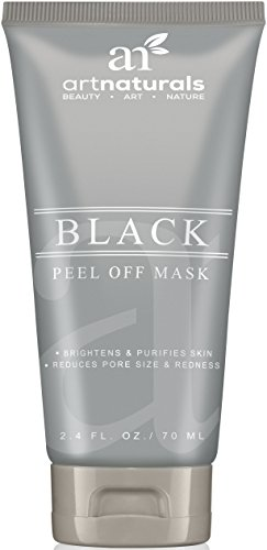 Art Naturals Blackhead, Acne & Pimple Removal Peel Off Face Mask 2.4oz -Best Black Head Remover, Purifying Deep Cleanser & Black Mud Mask - Reduce / Minimize Pore Size & Redness -For Acne Prone Skin