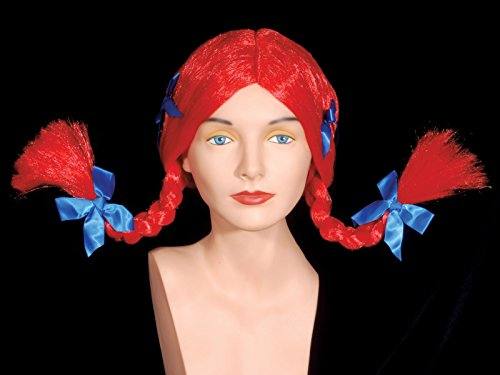 Loftus Pippi Longstocking Flip Braids Wig Red One Size (Adult)