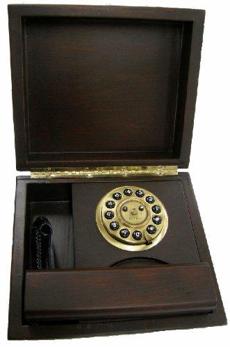 Sitel 240000t retro 39 telephone telefono fisso design vintage retro legno noce telefoni - Telefono fisso design ...