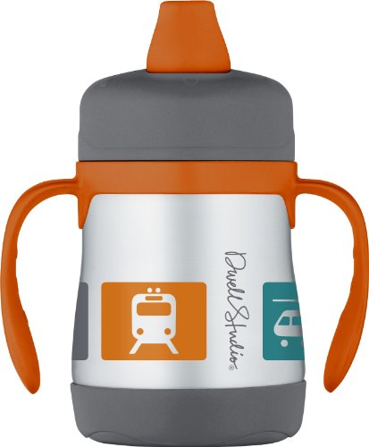 Dwellstudio For Thermos, Vacuum Insulated Stainless Steel Sippy Cup, Transportation, 7 Ounce front-821530